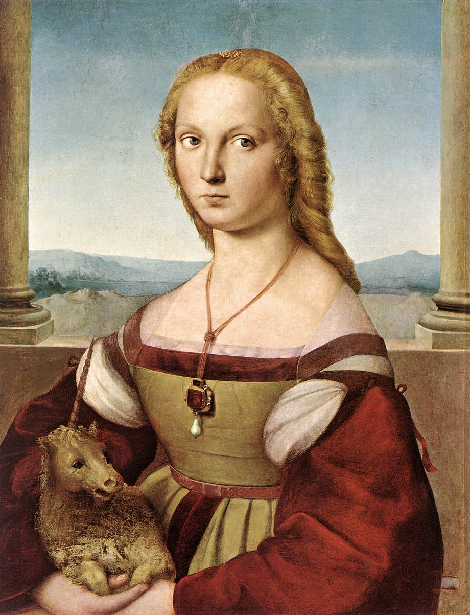 Portrait of a Lady with a Unicorn, 1505-1506