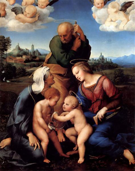The Holy Family with Saints Elizabeth and John, c.1506 - Raphael