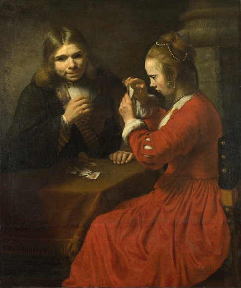 A Young Man and a Girl playing Cards, c.1645 - c.1650 - Rembrandt