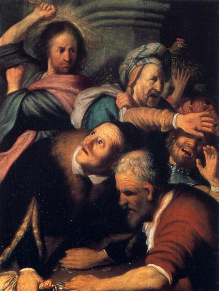 Christ Driving the Moneychangers from the Temple, 1626 - Rembrandt