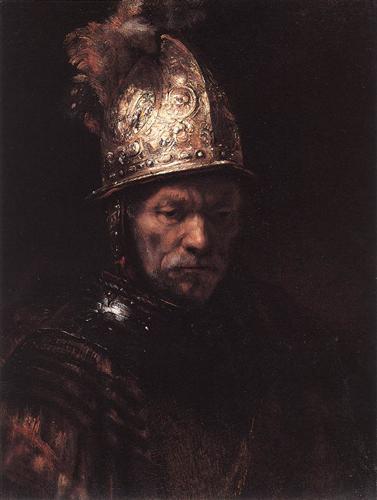 Man in a Golden Helmet - Rembrandt