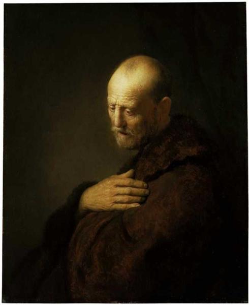 Old Man in Prayer - Rembrandt