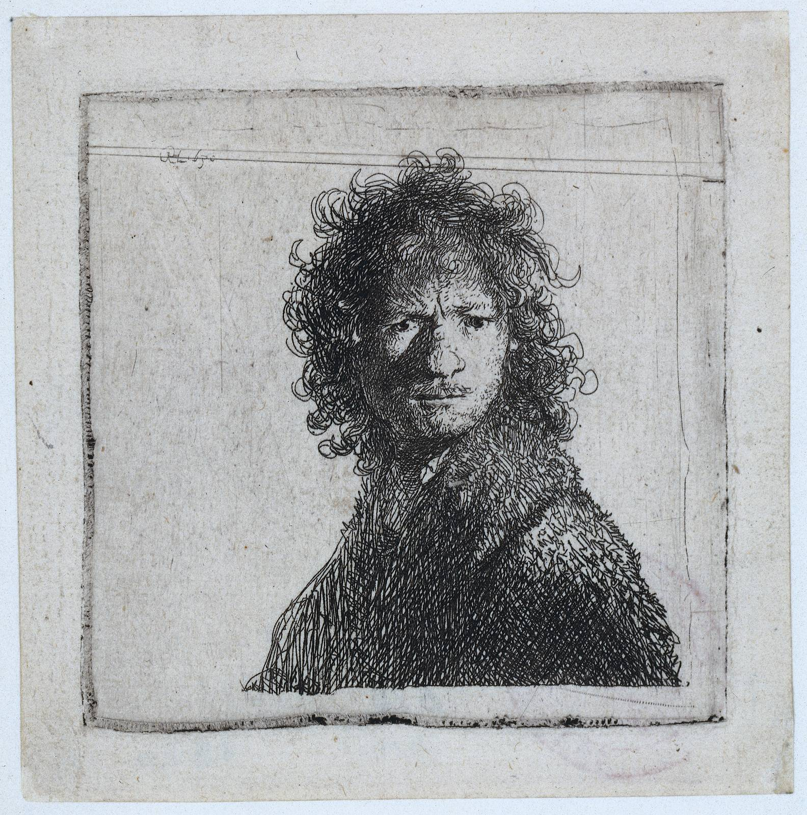 Self-portrait, Frowning, 1630 - Rembrandt - WikiArt.org