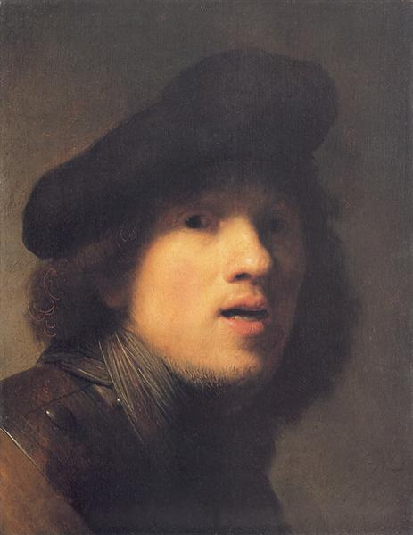 Self-portrait with Gorget and Beret, c.1629 - Rembrandt