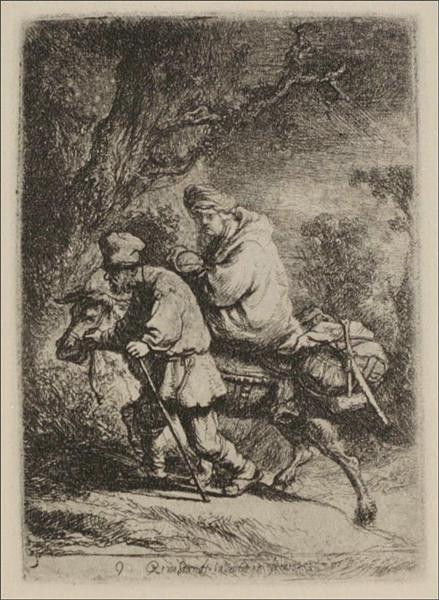 The Flight into Egypt, 1630 - Rembrandt
