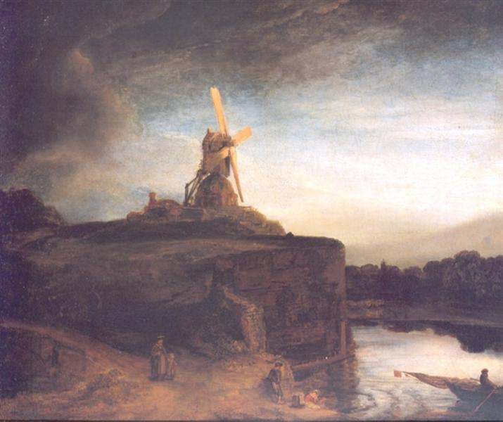 Le Moulin, 1645 - Rembrandt - WikiArt.org