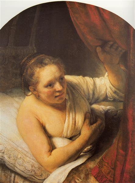 Woman in bed, 1645 - Rembrandt
