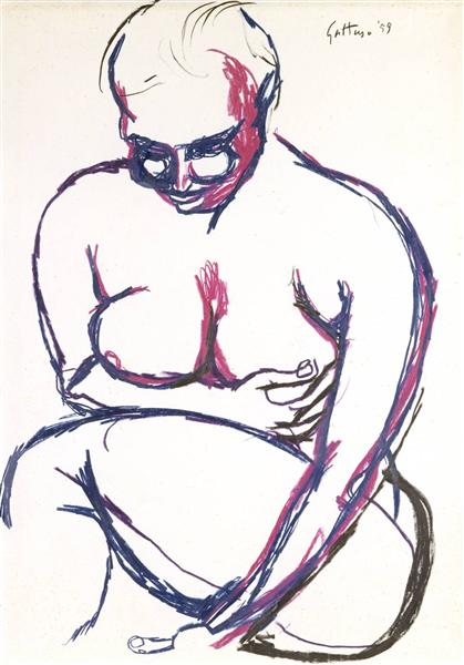 Nude, 1959 - Ренато Гуттузо