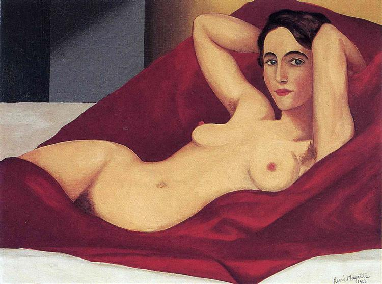 Reclining nude, 1925 - Rene Magritte