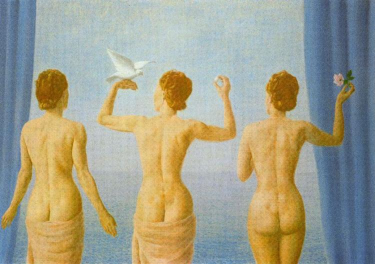 The break in the clouds (The calm), 1941 - Rene Magritte