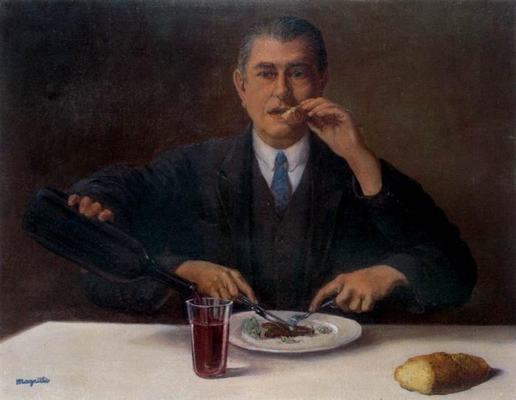 The magician (Self-portrait with four arms), 1952 - Rene Magritte