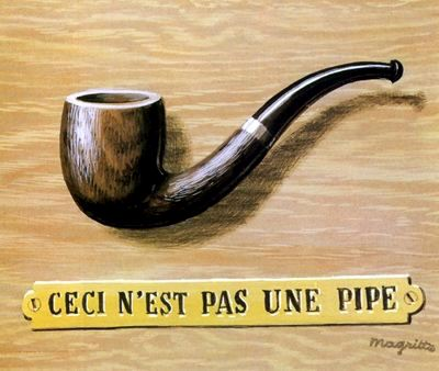 The treachery of images (This is not a pipe), 1966 - René Magritte