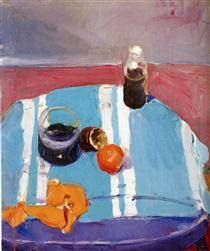 Still Life with Orange Peel - Richard Diebenkorn
