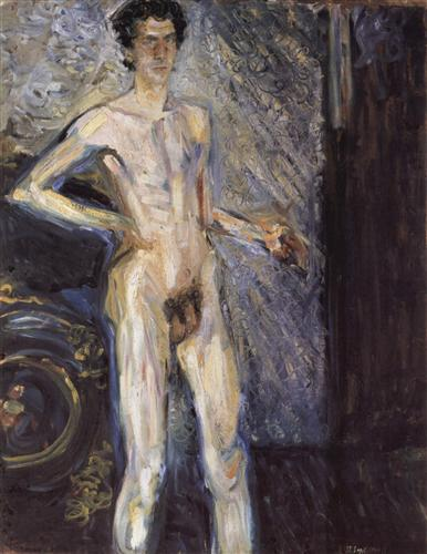 Self Portrait (Nude in a full figure) - Richard Gerstl