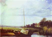 River Scene in France - Річард Паркс Бонінгтон