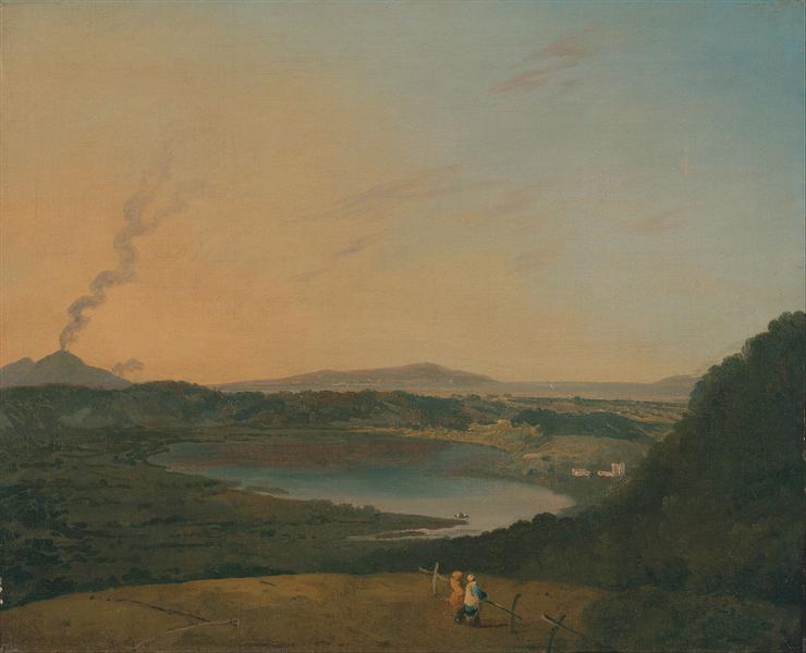 Lago d'Agnano with Vesuvius in the distance, 1775 - Richard Wilson