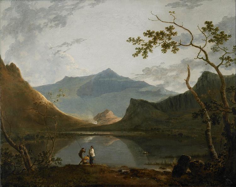 Snowdon from Llyn Nantlle, 1766 - Ричард Уилсон