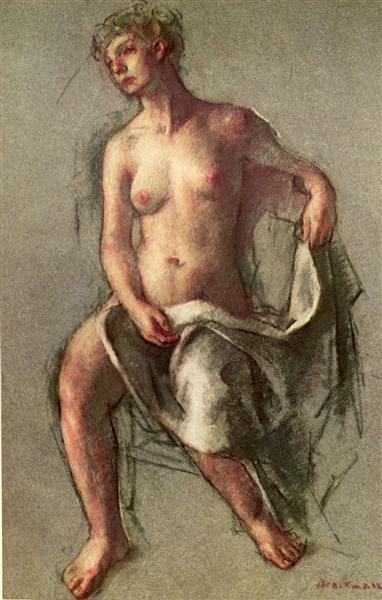 Pastel Nude - Robert Brackman