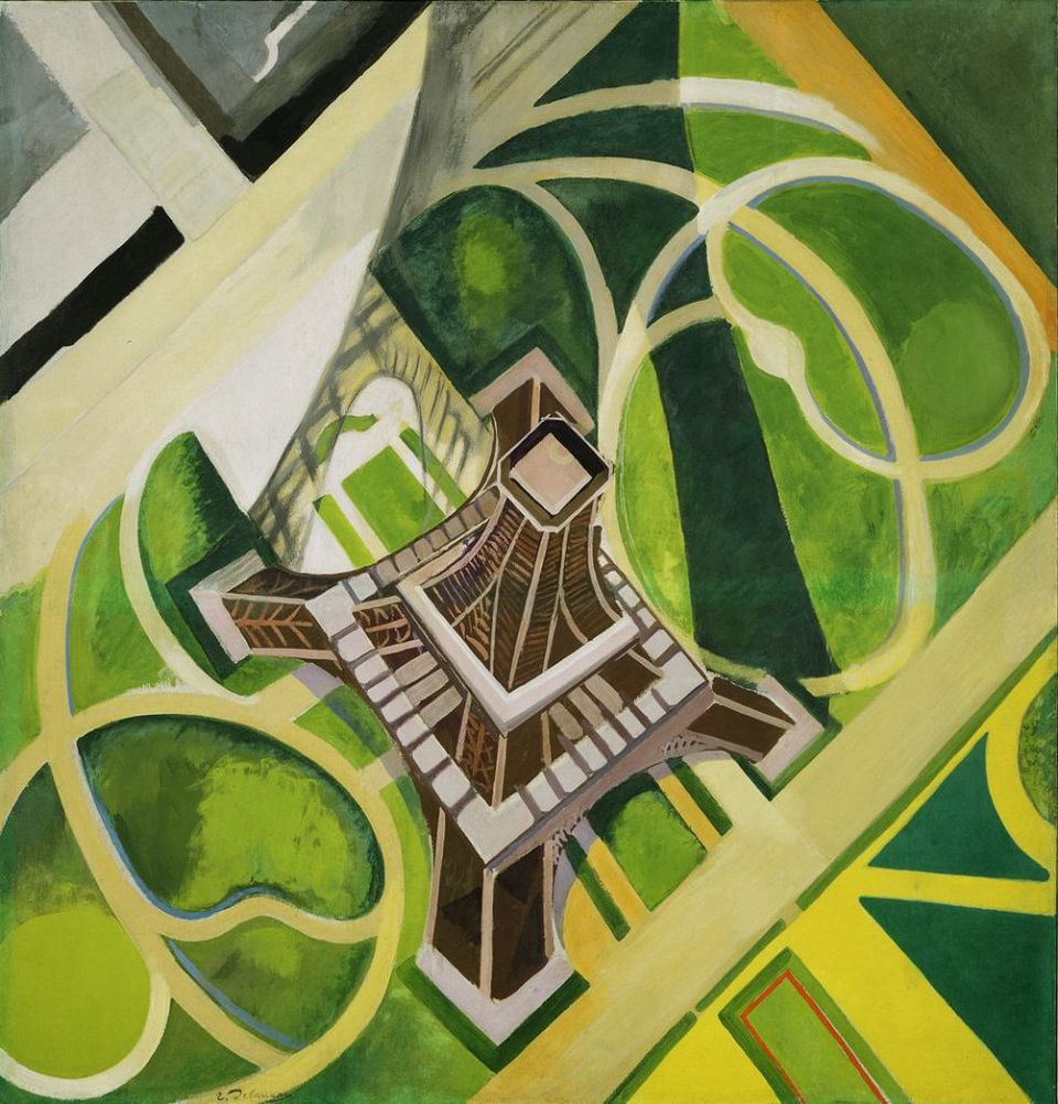 Eiffel tower 1922 robert delaunay for Jardin a dessiner