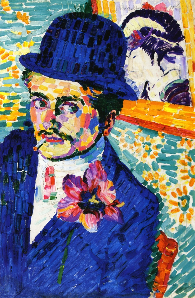 Man with a Tulip (also known as Portrait of Jean Metzinger), 1906