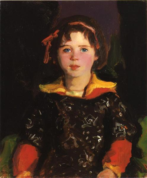 Bridgie (also known as Girl with Chinese Dress), 1927 - Robert Henri