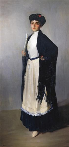 Modiste of Madrid (also known as Spanish Girl of Madrid), 1906 - Robert Henri