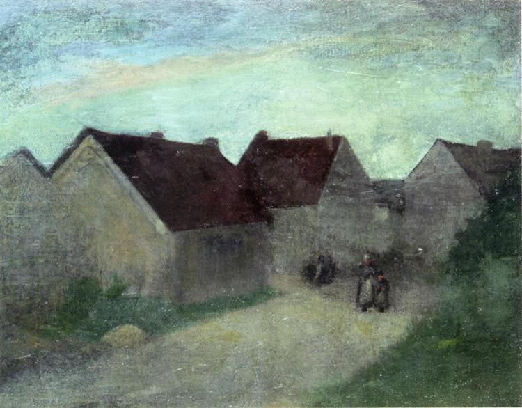 Old Houses in Normandie - Robert Henri