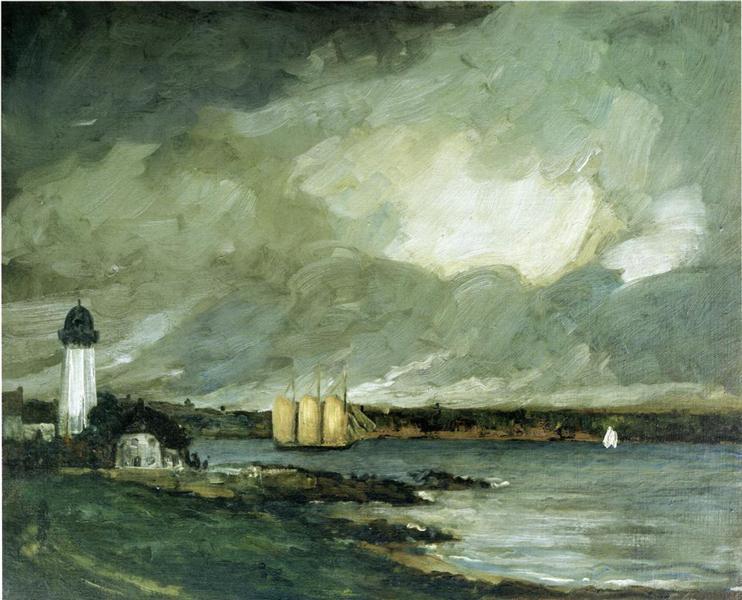 Pequot Light House, Connecticut Coast, 1902 - Robert Henri