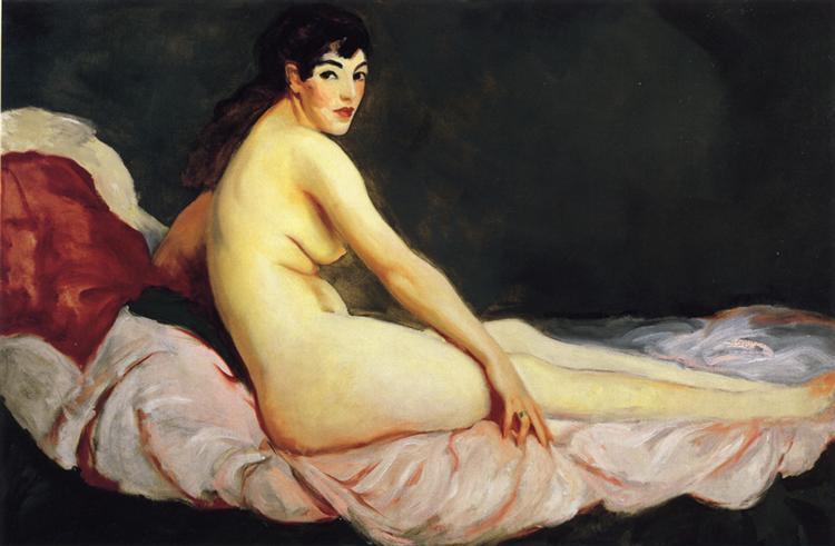 Viv Reclining (Nude), 1916 - Robert Henri