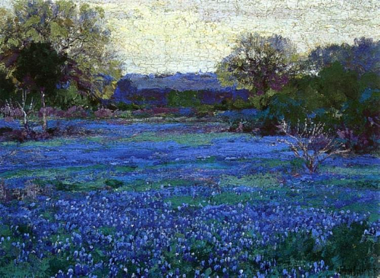 Bluebonnets on a Grey Day, 1922 - Robert Julian Onderdonk
