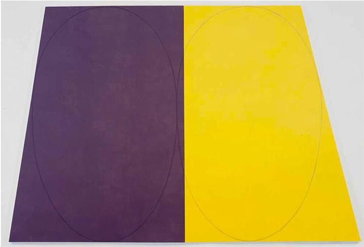 Plane-Figure Series D (Double Panel), 1993 - Robert Mangold