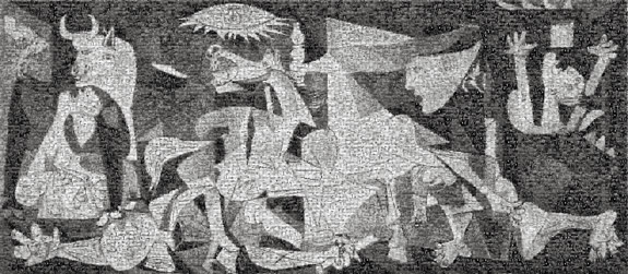 Guernica, Photomosaic mounted on aluminum - Robert Silvers