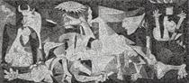 Guernica, Photomosaic mounted on aluminum - Robert Silvers
