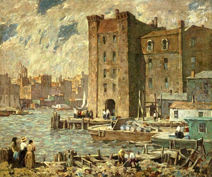 Wharves, 1925 - Robert Spencer