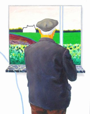 Father in front of the windowpainting, 1972 - Roger Raveel