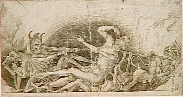 Demons tortures a sinner - Rogier van der Weyden