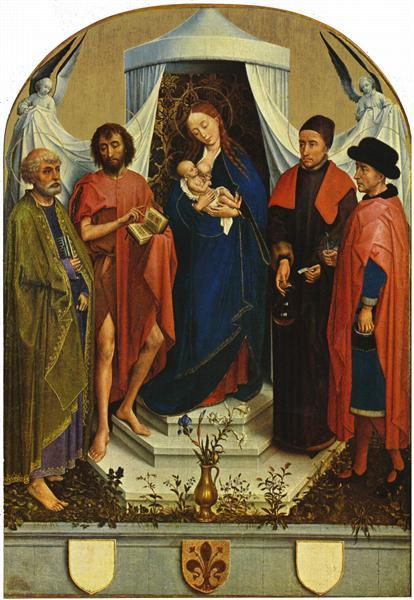Madonna with the saints, 1460 - Rogier van der Weyden
