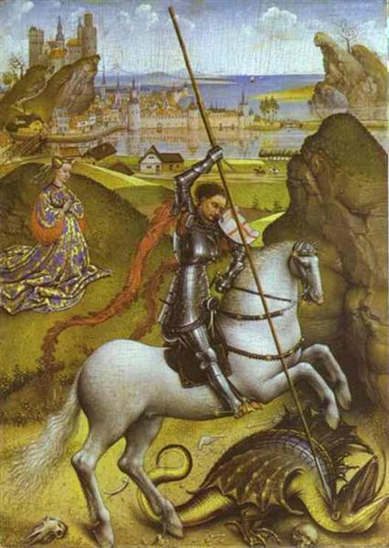 Saint George and the Dragon, 1432 - 1435 - Rogier van der Weyden
