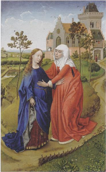 Visitation of Mary, 1440 - 1445 - Rogier van der Weyden