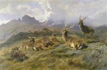 Landscape with Deer - Роза Бонёр