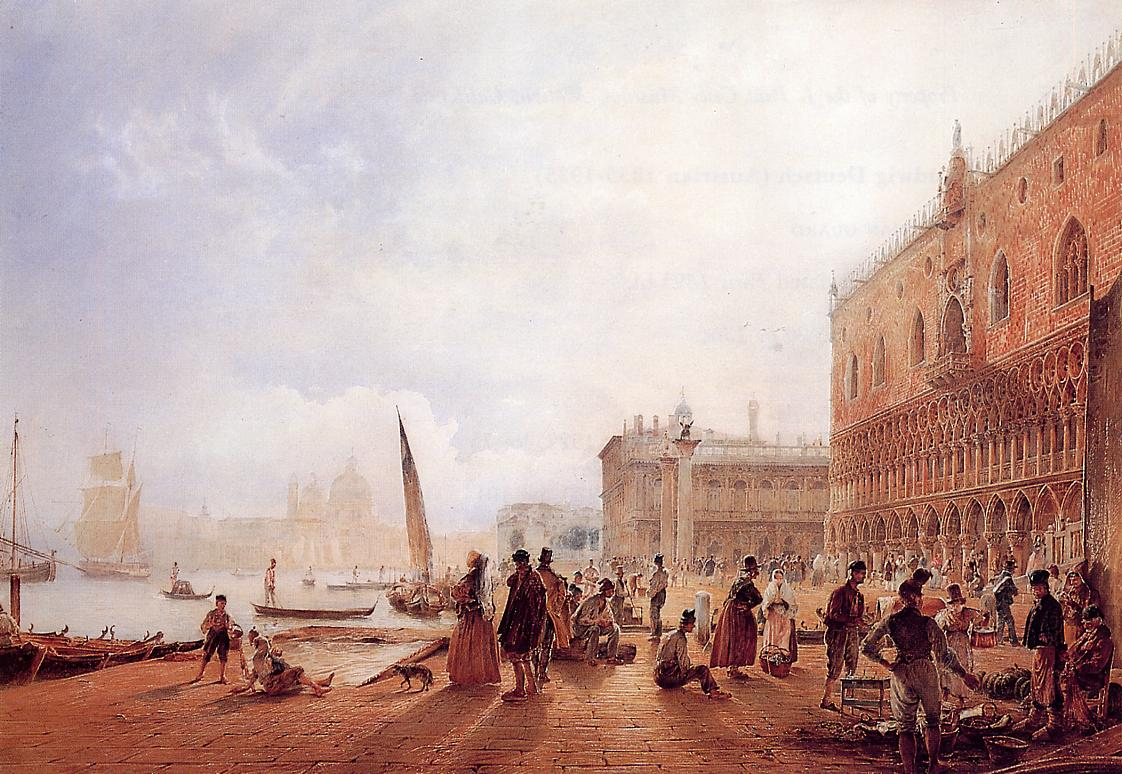 Figures on the Riva degli Schiavone, 1840