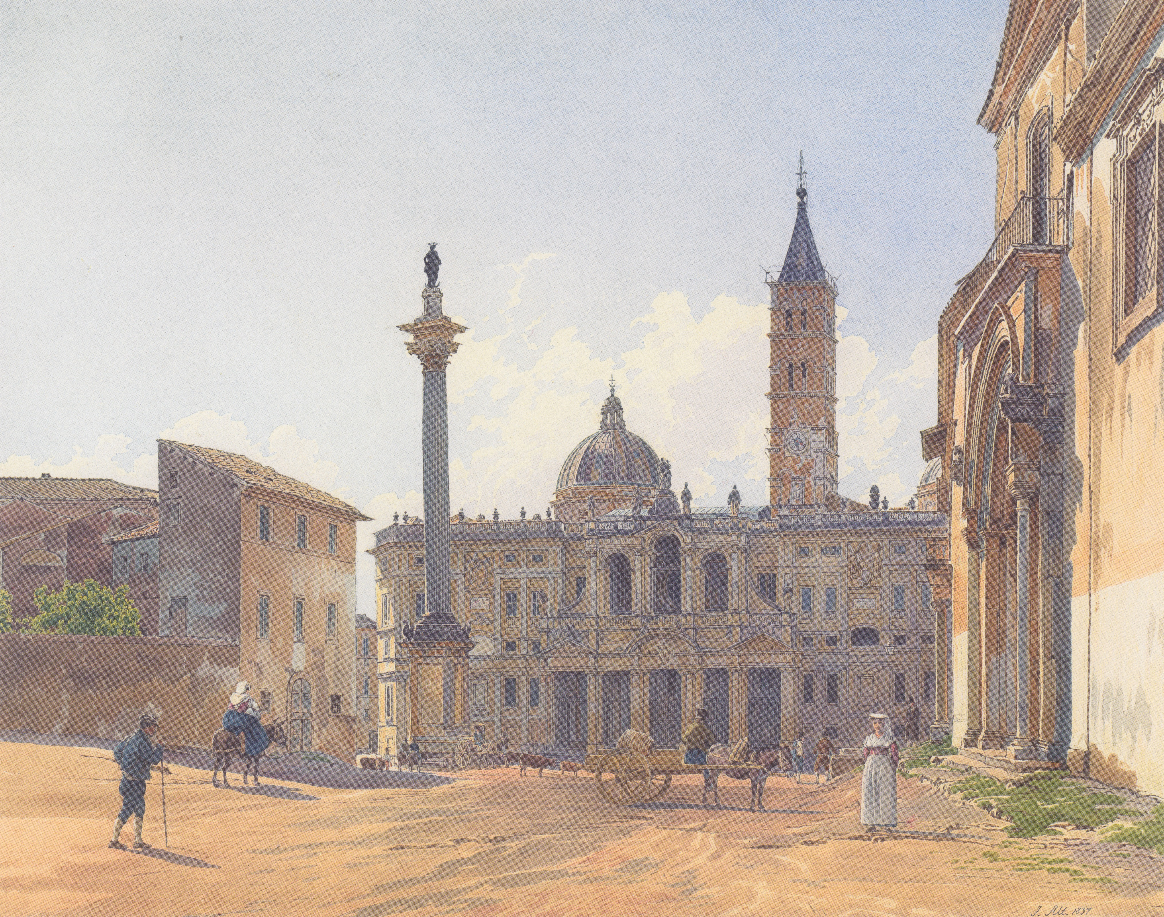 The Basilica of Santa Maria Maggiore in Rome, 1837