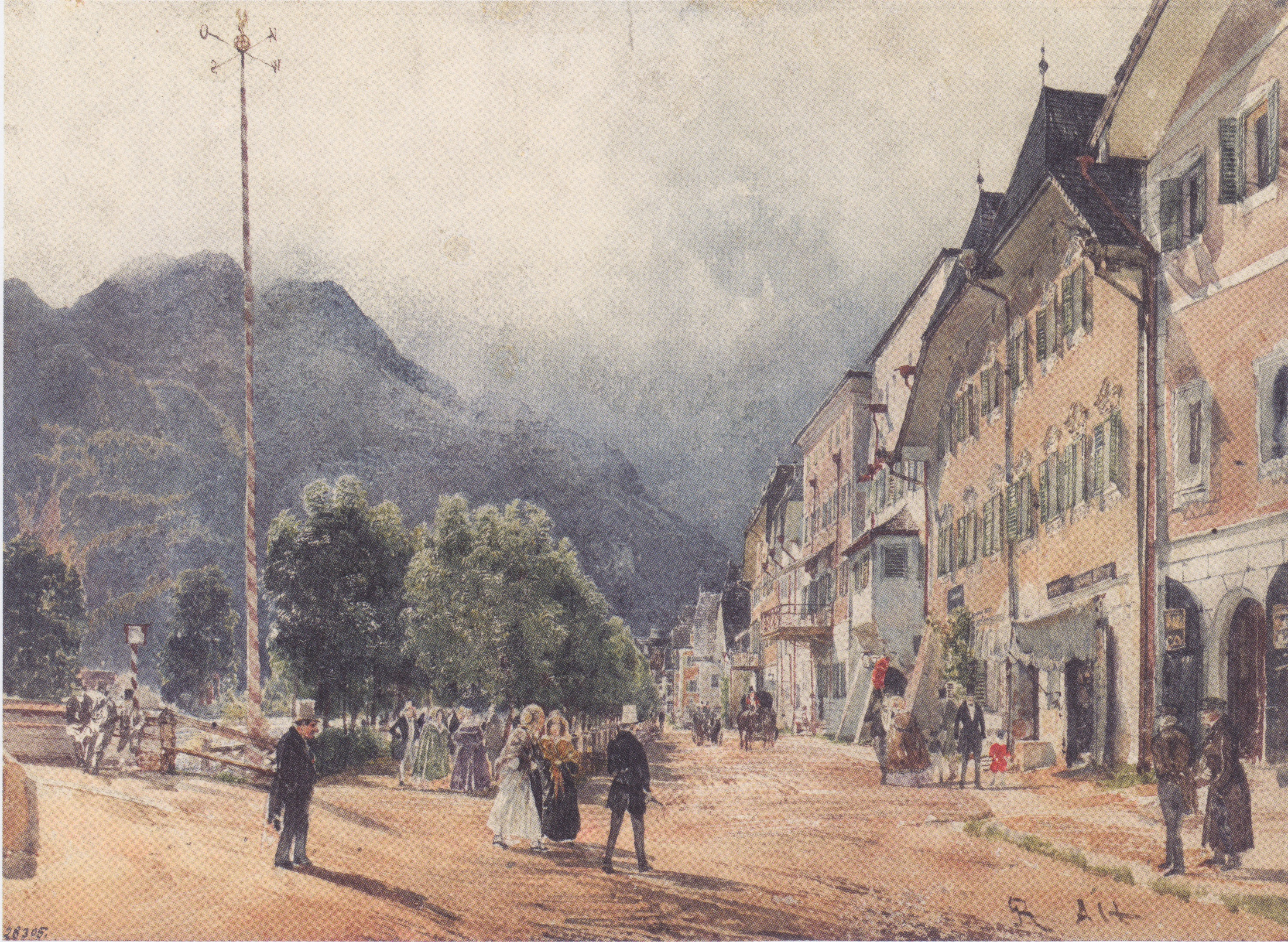 The Esplanade in Ischl, 1840