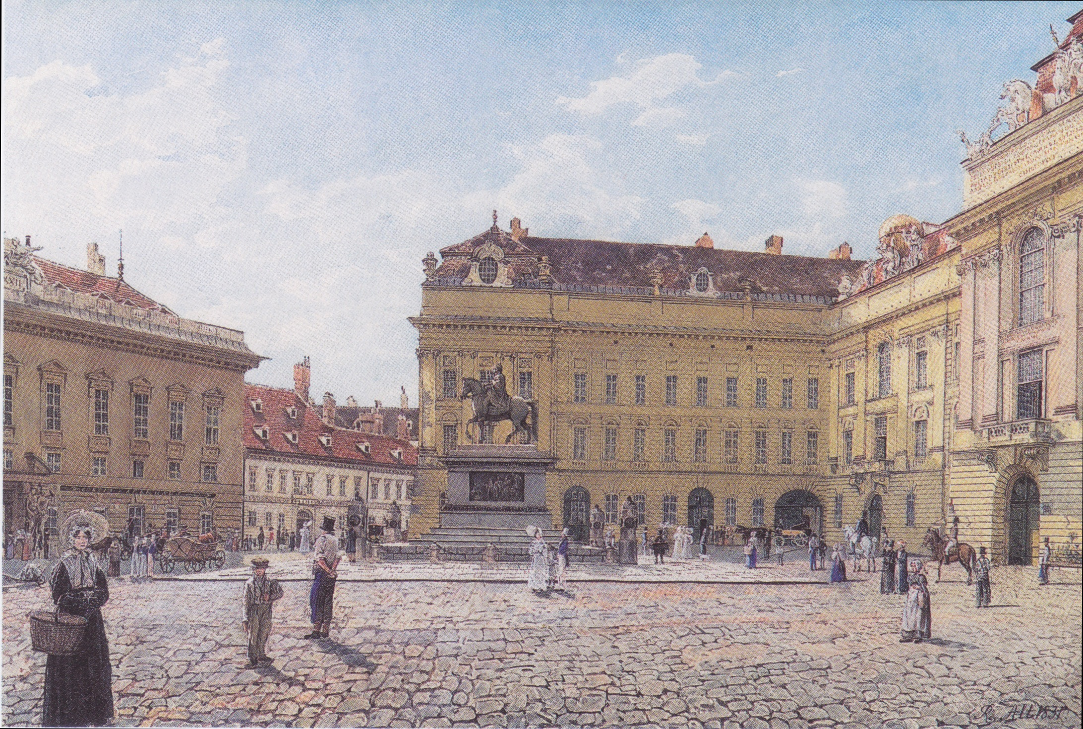 The Josef square in Vienna, 1831