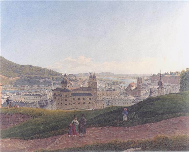View of Salzburg, 1831 - Rudolf von Alt