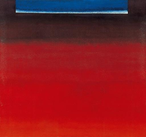 OE 280 (Komposition in Rot mit Weiß und Blau), 1959 - Rupprecht Geiger