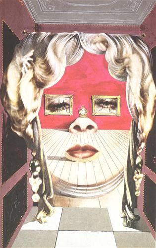 Face of Mae West Which May Be Used as an Apartment - Salvador Dali