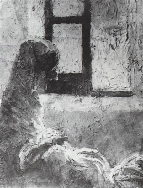 Grandmother Ana Sewing, c.1920 - Salvador Dali
