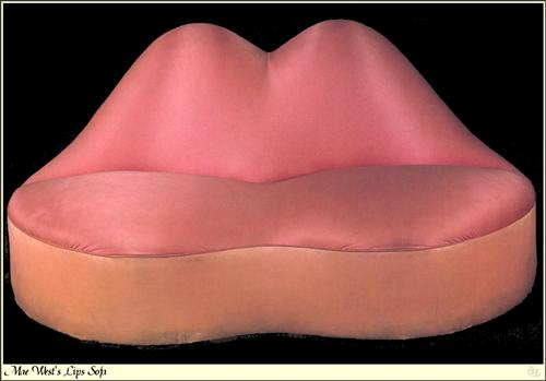Mae West Lips Sofa - Salvador Dali
