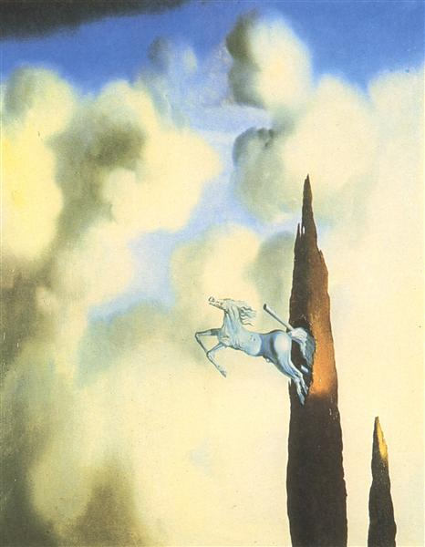 Morning Ossification of the Cypress, 1934 - Salvador Dali